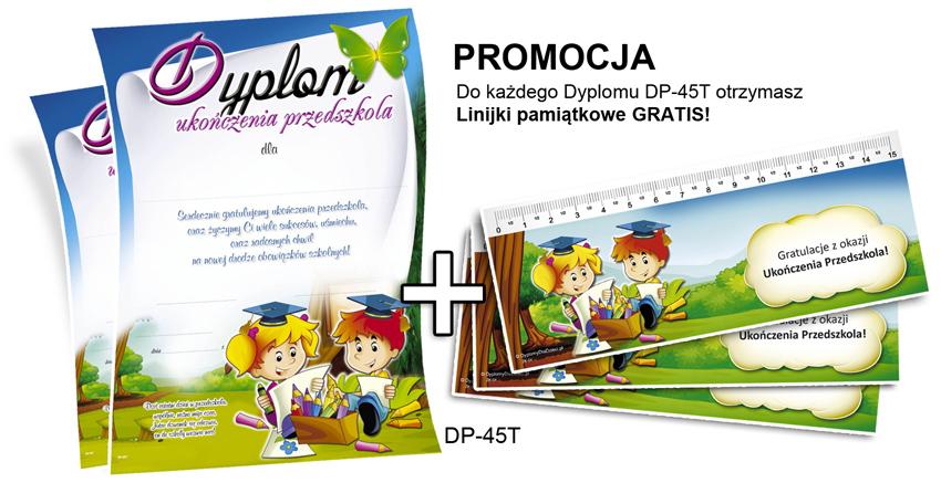 Promocja: Dyplomy dla dzieci + Pamiątkowe Zakładki