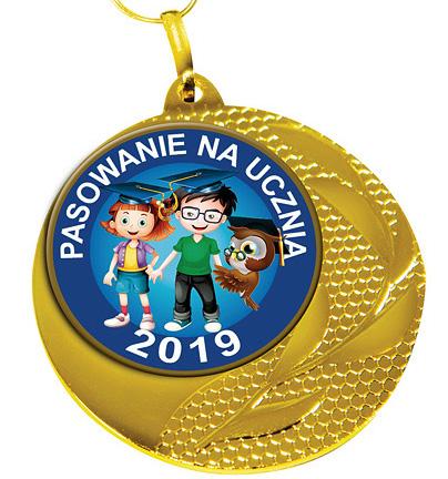 Medal na ślubowanie pierwszoklasistów MED-01