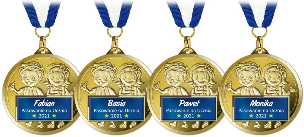 medale imienne na ślubowanie pierwszoklasisty